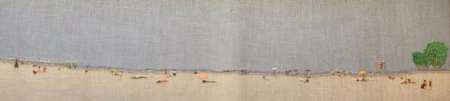 Playa del Vao, día deniebla
