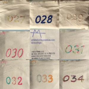 Confeccionadas en loneta cruda de algodón